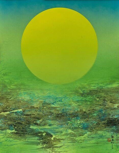 Liu Kuo-sung 刘国松, 'Moonlight of Jiuzhaigou', 2013