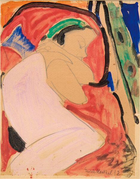 Erich Heckel, 'Sleeping Girl (Sidi Riha)', 1912