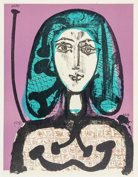 Pablo Picasso, 'The Woman with a Hair Net (Woman with Green Hair)', 1956