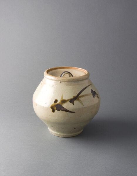 Shōji Hamada, 'Covered jar, tetsue brushwork', 1945