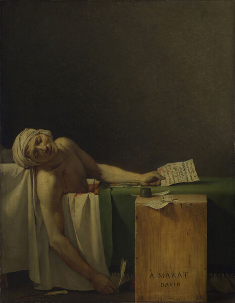 Jacques-Louis David, 'Death of Marat', 1793