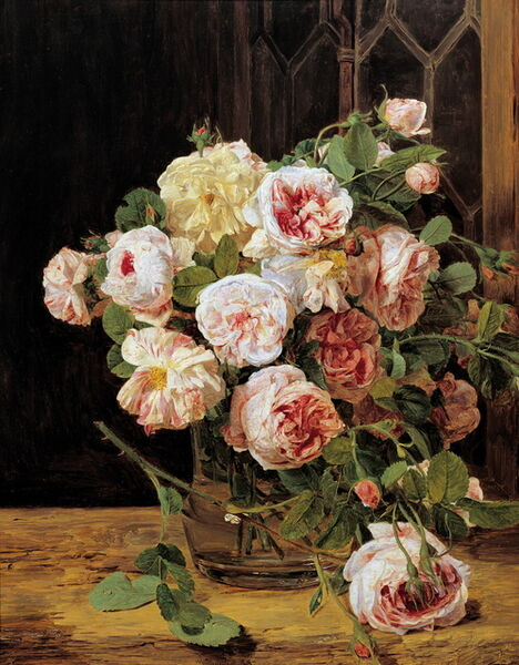 Ferdinand Georg Waldmüller, 'Bunch of Roses by a Window', 1832