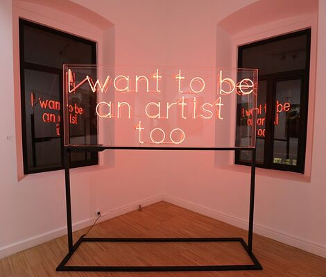 When did we stop playing..., installation view