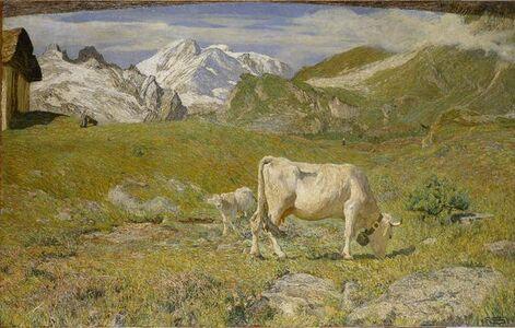Giovanni Segantini, 'Spring Pastures', 1896