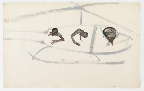 Nancy Spero, 'Gunship, Pilot, and Victims', 1968