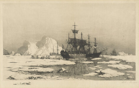 William Bradford, 'Among the Ice Floes', 1890