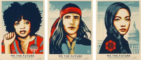 Shepard Fairey, 'We the People, set of three', 2017