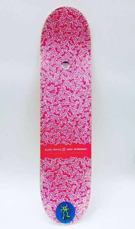 Keith Haring, 'Keith Haring Skateboard Deck (Green Keith Haring figurative)', 2012, Ephemera or Merchandise, Screen-print on Maple Wood Skateboard Deck., Lot 180