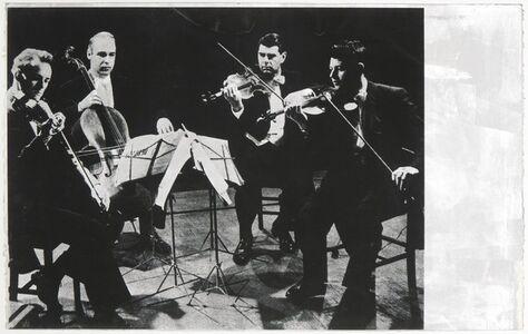 """Gerhard Merz, 'from the portfolio """"Streichquartett"""" (Musicians)', 1982"""