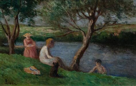 Maximilien Luce, 'Jeune femme et enfants sous les arbres, Rolleboise', 1970-1950
