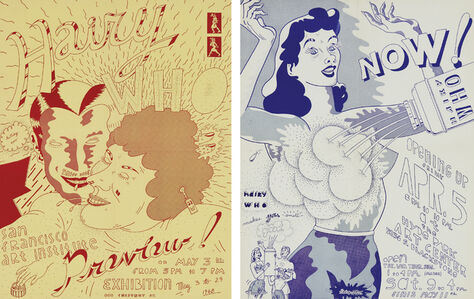 Jim Nutt, 'Untitled (Hairy Who Exhibition Poster for the San Francisco Art Institute); and Untitled (Hairy Who Exhibition Poster for the Hyde Park Art Center', 1968