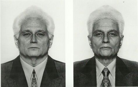 Jiří David, 'Jacques Derrida, from the series Hidden Image', 1991-1995