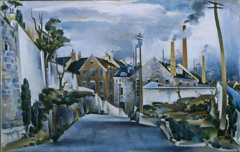Preston Dickinson, 'Street in Quebec'