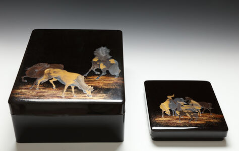 Unknown, 'Writing and Document Box Set with Horses (T-4197)', Edo period (1615, 1868), early 19th century