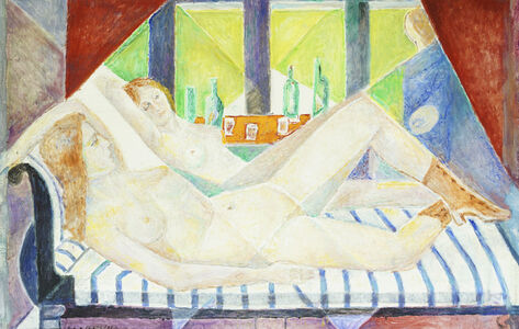 Marie Vorobieff Marevna, 'Portrait of Catherine Dolan, reclining on a chaise longue', c.1972