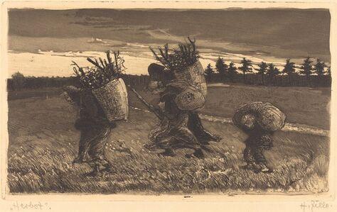 Heinrich Zille, 'Herbst', 1895