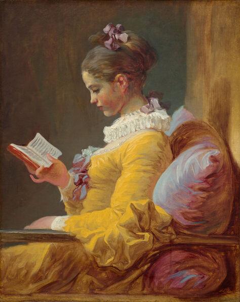 Jean-Honoré Fragonard, 'Young Girl Reading', ca. 1770