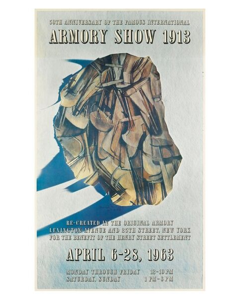 "Marcel Duchamp, '""50th Anniversary of the Famous International Armory Show 1913"", Exhibition Poster Designed by Marcel Duchamp', 1963"