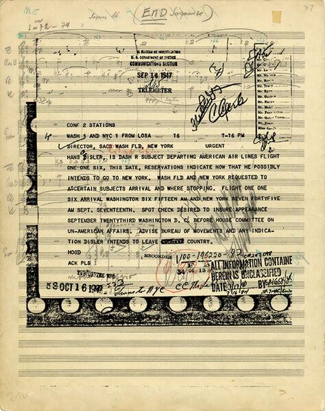 Susan Philipsz, 'Part File Score X', 2014
