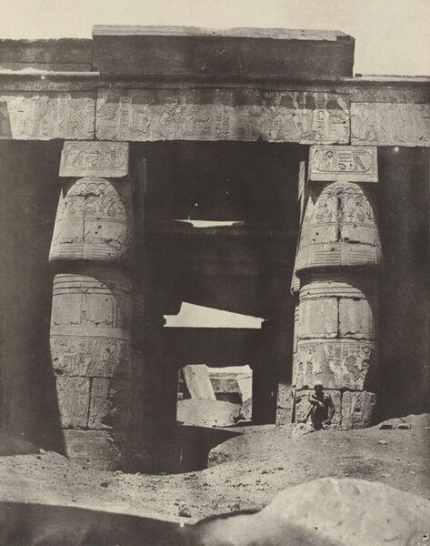Maxime Du Camp, 'Thebes: Karnak, Portique de Temple de Khons', 1850