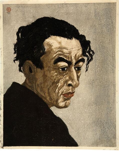 Koshiro Onchi, 'Portrait of Hagiwara Sakutarō ', 1949