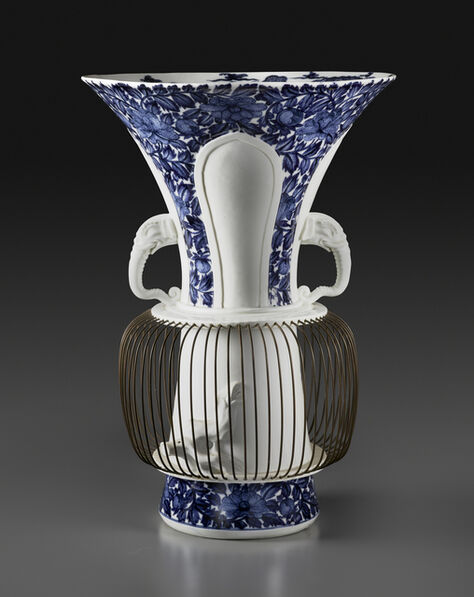 """Meissen Porcelain Factory, 'One of a pair of """"birdcage"""" vases', after 1730"""