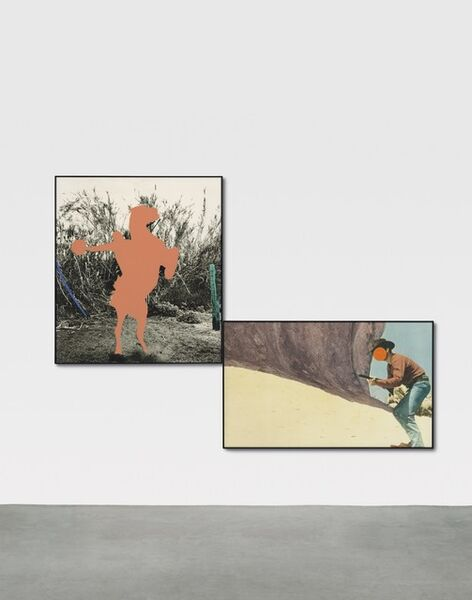 John Baldessari, 'Equestrian (Flesh) in Brackets with Orange Showdown ', 1992