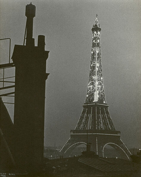 Ilse Bing, 'Eiffel Tower at Night', 1934