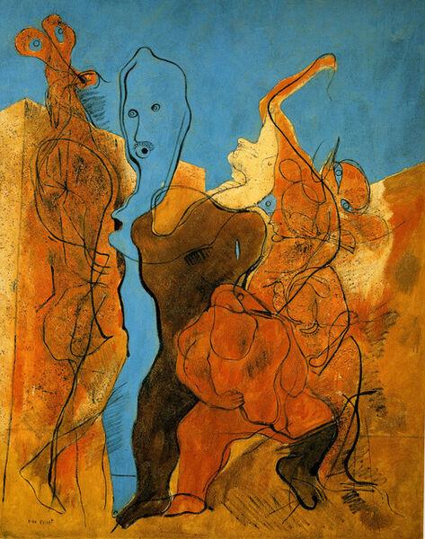 Max Ernst, 'Personnages dont un sans tête', 1927