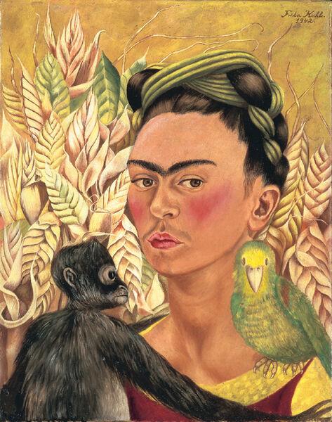 Frida Kahlo, ' Autorretrato con chango y loro', 1942