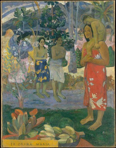 Paul Gauguin, 'Ia Orana Maria (Hail Mary)', 1891