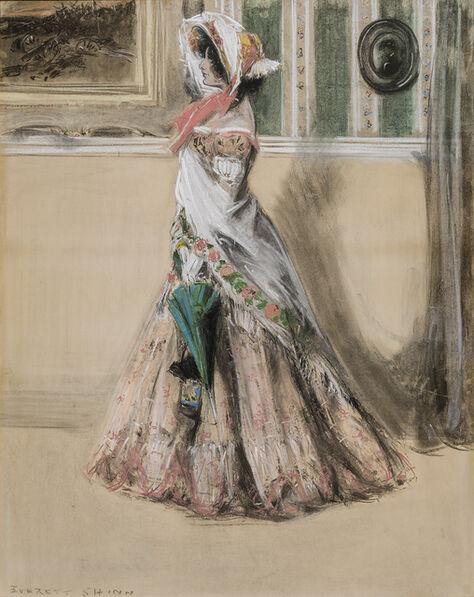 "Everett Shinn, 'Julia Marlowe as Barbara Frietchie in the Play, ""Barbara Frietchie, The Frederick Girl""', ca. 1899"