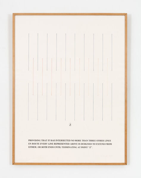 Douglas Huebler, 'Providing That It Has Intersected No More Than Three Other Times', 1976