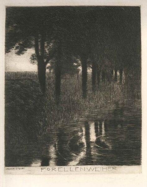 Franz von Stuck, 'Forellenweiher', 1890-1891