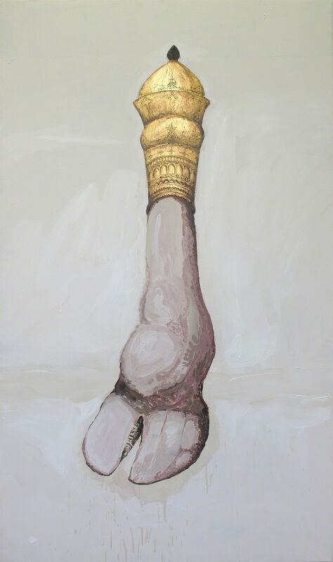 Shahpour Pouyan, 'The Hoof', 2012, Painting, Open acrylic and gold leaf on canvas, Lawrie Shabibi