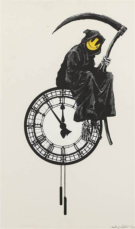 Banksy, 'Grin Reaper', 2005, Print, Screen-print in colors on wove paper, MoonStar Fine Arts Advisors
