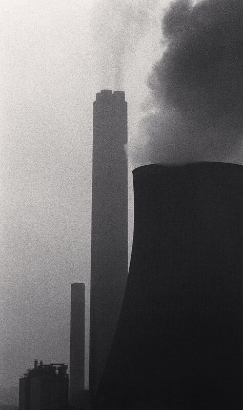 Michael Kenna, 'Ratcliffe Power Station, Study 32, Nottinghamshire, England, 1984', 1984, Photography, Sepia-toned silver gelatin print mounted to archival substrate, Bau-Xi Gallery