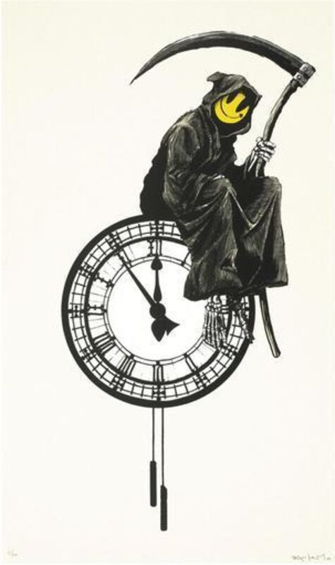 Banksy, 'BANKSY GRIN REAPER SIGNED & NUMBERED BY ARTIST', 2005, Print, Screen Print on paper, Arts Limited