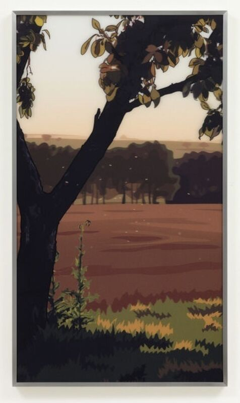 Julian Opie, 'French Landscapes: Evening Sun', 1982/2005, Print, Lenticular acrylic panel comprised of four injet prints in colors presented in aluminium frame, Hamilton-Selway Fine Art