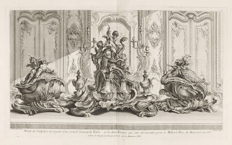 Juste-Aurèle Meissonnier, 'Project de Sculpture en Argent d'un Grand Surtout de Table et les Deux Terrines', 1742-1748