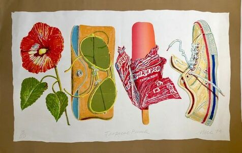 Don Nice, 'Tropical Punch Large Pop Art American Photorealist Lithograph', 1990-1999