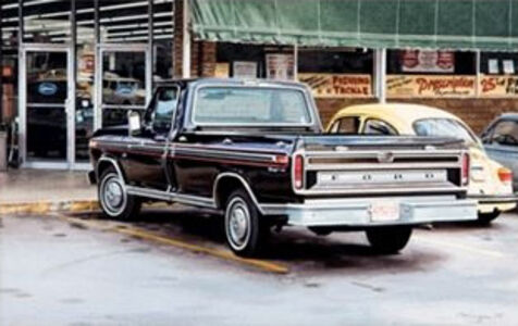 Ralph Goings, 'Black Ford', 1975