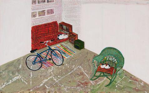 Sarah McEneaney, 'Studio Cats', 2016