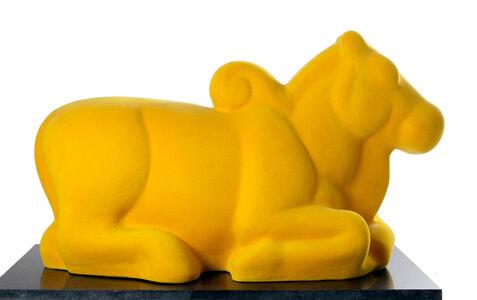 Arunkumar H. G., 'Nandi in yellow', 2008