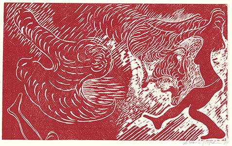 Antonius Höckelmann, 'Surferin (Rot)', 1981