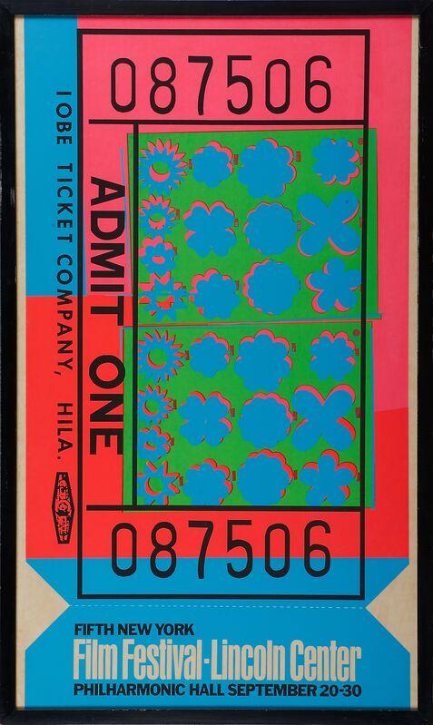 Andy Warhol, 'Fifth New York Film Festival, Lincoln Center', 1967, Print, Silkscreen in colors, Rago/Wright/LAMA