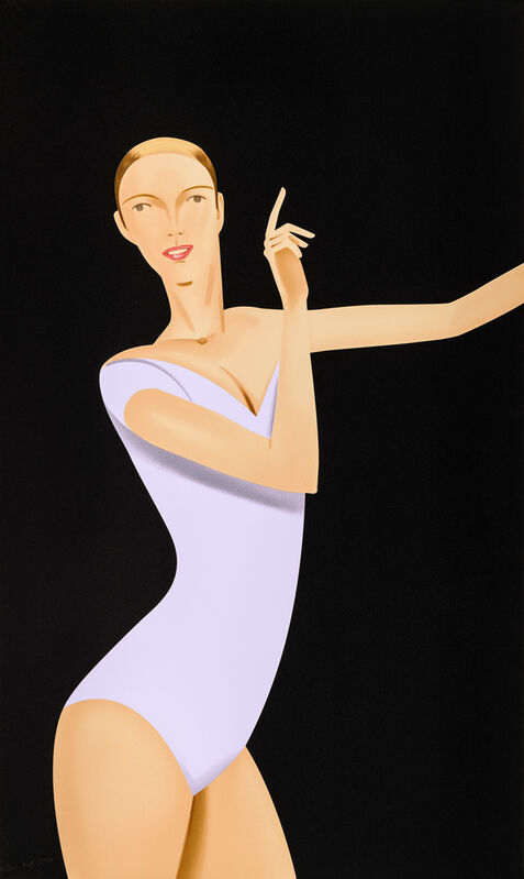 Alex Katz, 'Dancer 1', 2019, Print, Serigraphy on color, Artelandia Gallery