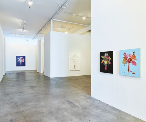 Roland Reiss: Unrepentant Flowers and New Miniature Tableaux, installation view
