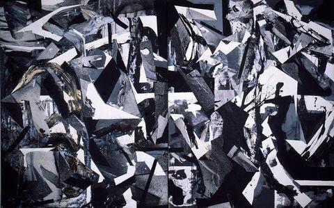 Dario Villalba, 'Espacio Barroco (Dyptichon)', 1986
