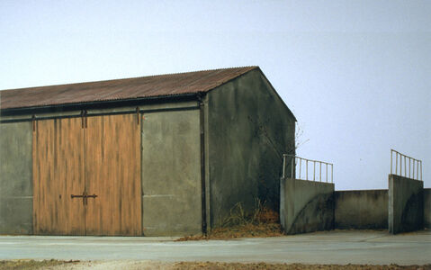 Oliver Boberg, 'Machinehalle mit Silo/Machinery Shed with Silo', 1999